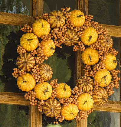 How To Make Pumpkin Wreath